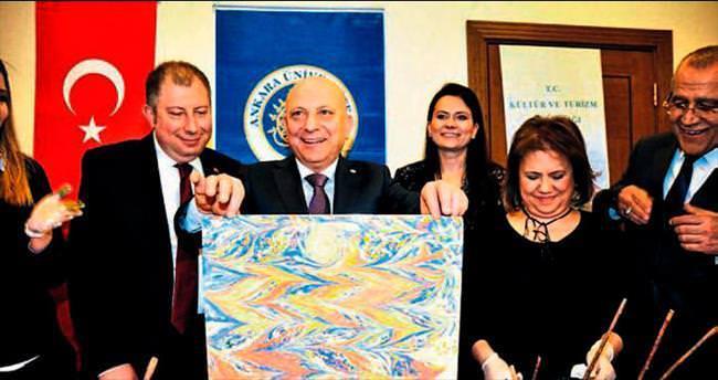 Geleneksel ebru sanatı Avrupalılara tanıtılacak