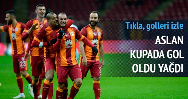 Galatasaray kupada gol yağdırdı