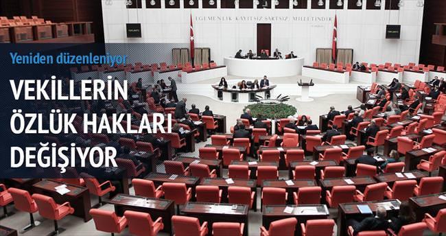 Milletvekillerinin özlük hakları değişiyor