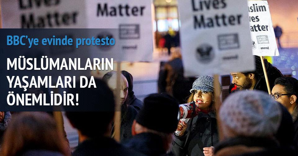 BBC binası önünde protesto
