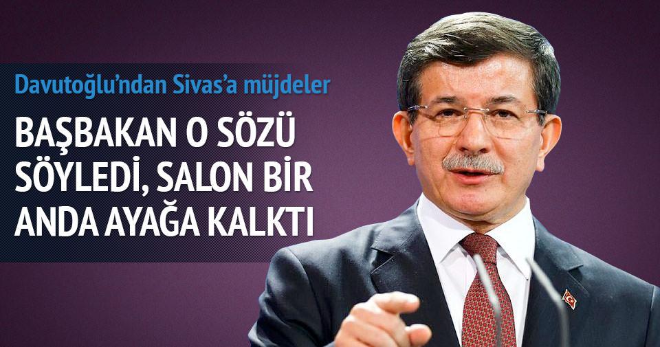 Davutoğlu'ndan Sivas'a üniversite ve stadyum müjdesi