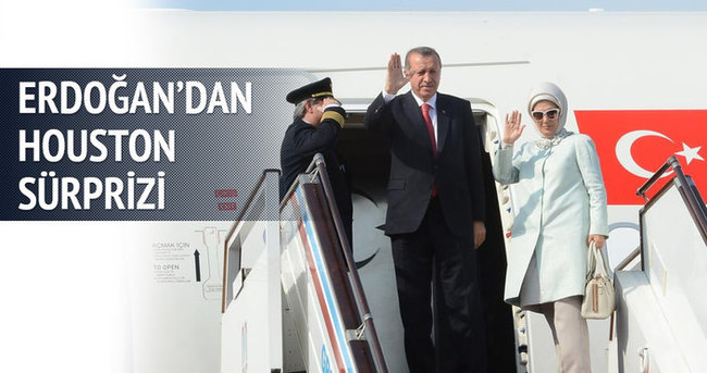 Erdoğan'ın uçağından sürpriz Houston molası