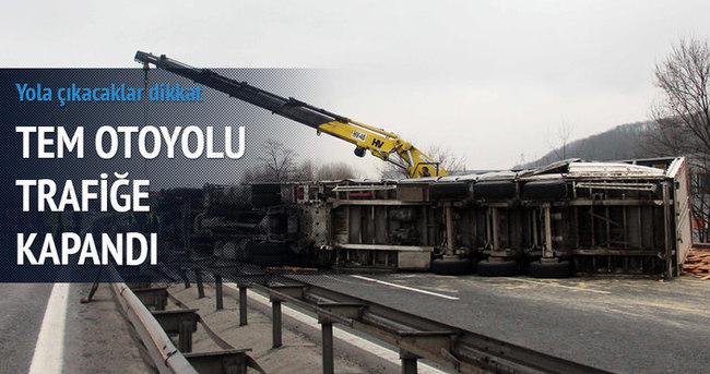 Ankara yolu trafiğe kapandı