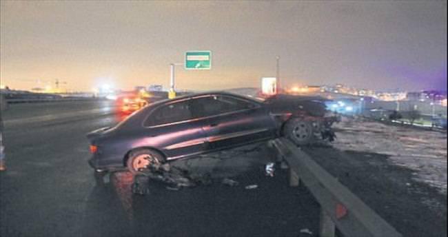 Çevre yolunda kaza: 3 yaralı