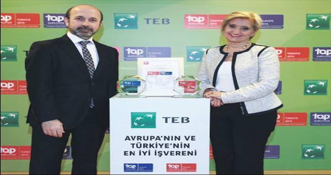 TEB, ikinci kez Avrupa ve Türkiye'nin En İyi İşvereni seçildi