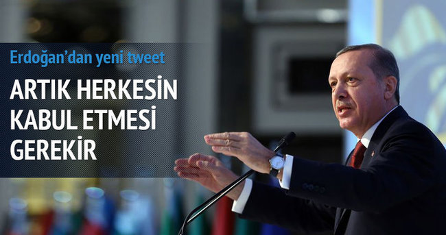 Cumhurbaşkanı Erdoğan'dan yeni tweet: Meşruiyetleri sorgulanıyor
