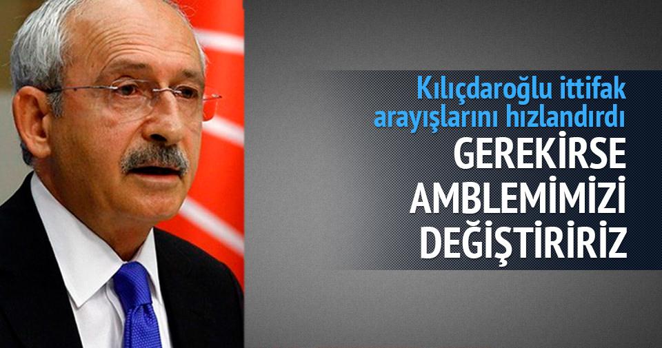 Kılıçdaroğlu: Gerekirse amblemimizi de değiştiririz