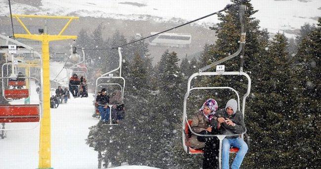 Uludağ'da kar kalınlığı 2,5 metreyi aştı