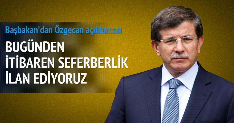 Davutoğlu: Özgecan'ın ismini Antalya'da yaşatacağız