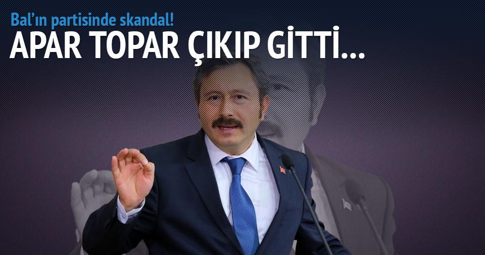 İdris Bal'ın partisinde büyük skandal!