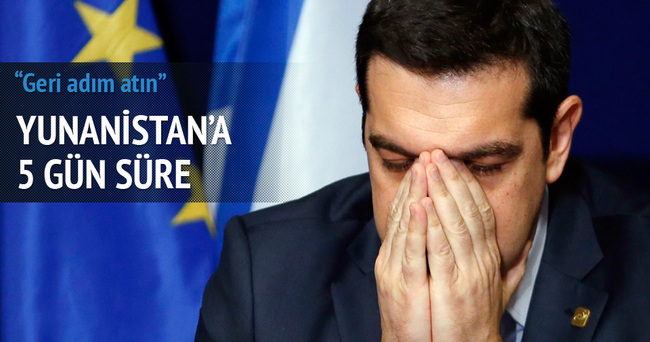 Avro Bölgesi'nden Yunanistan'a 5 gün süre
