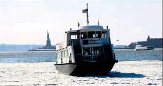 Hudson Nehri'ni donduran soğuk