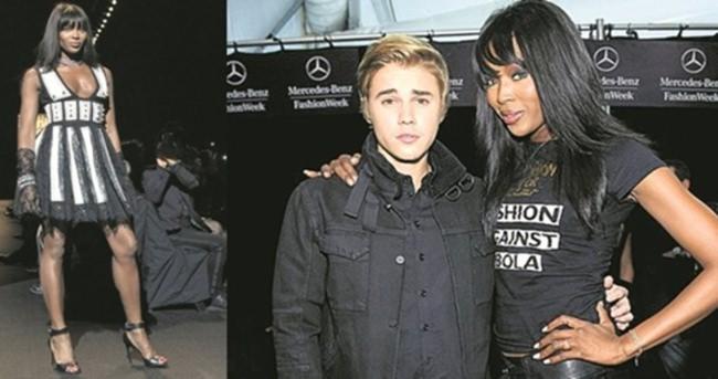 Justin Bieber'dan Naomi Campbell'a tam destek