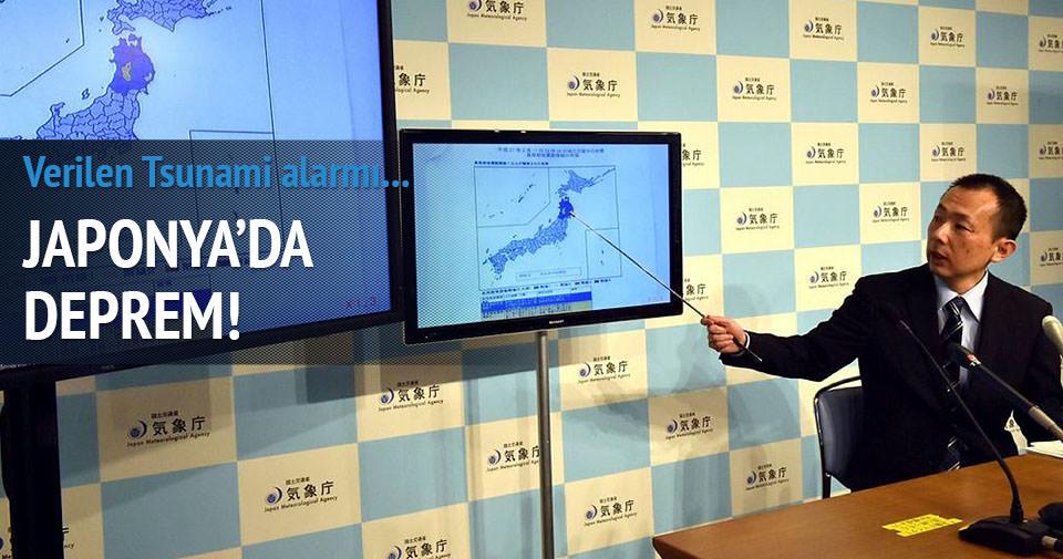 Japonya'da deprem Tsunami uyarısı verildi