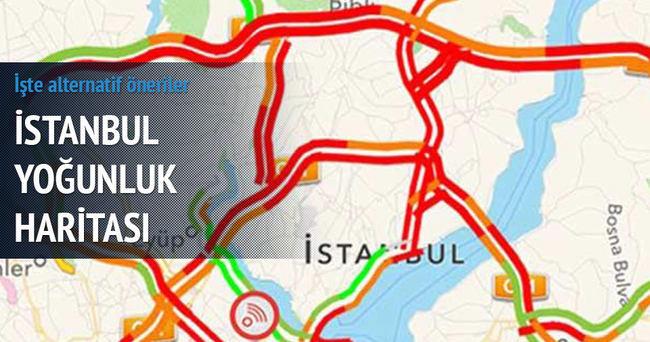 İstanbul İBB yoğunluk haritası ve alternatif yollar