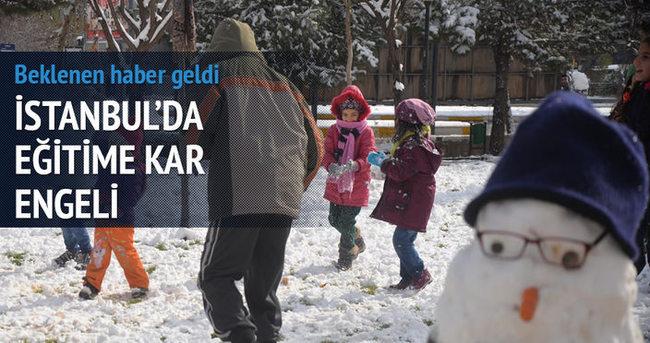 İstanbul'da kar tatili