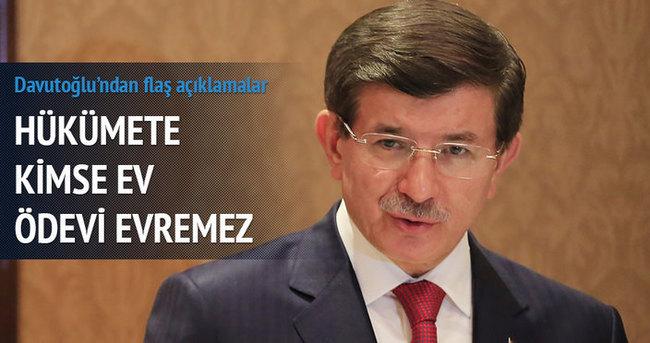 Davutoğlu: Hükümete kimse ev ödevi veremez