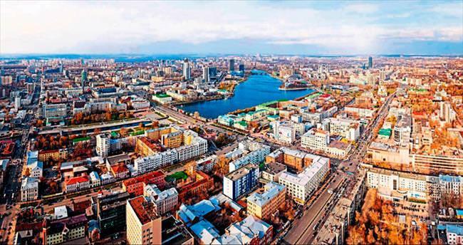 Sibirya'nın en büyük kenti Yekaterinburg