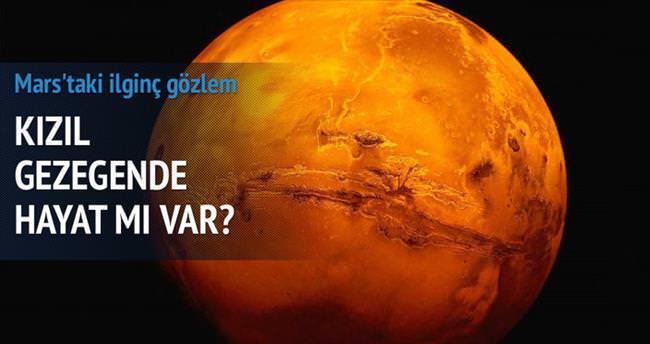 Mars'ta sürpriz bulut
