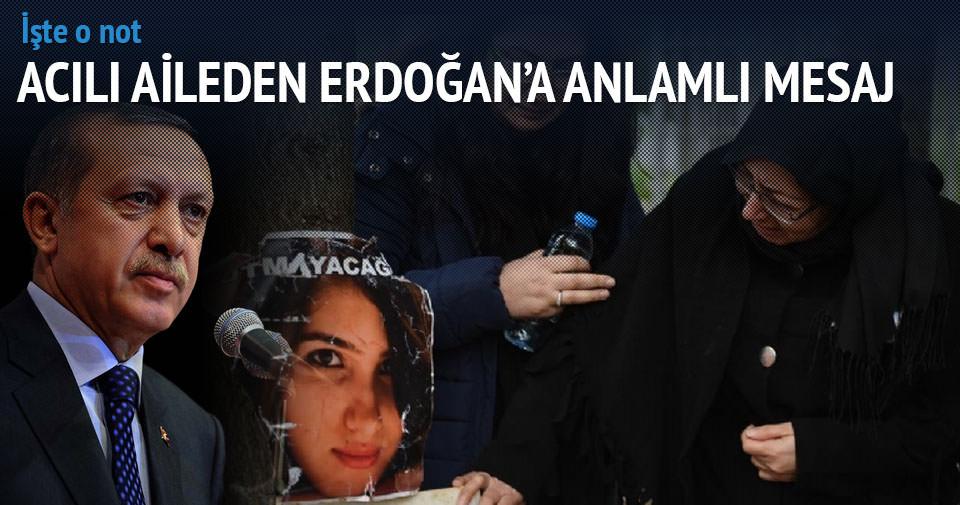 Özgecan'ın ailesinden Erdoğan'a duygulu mesaj