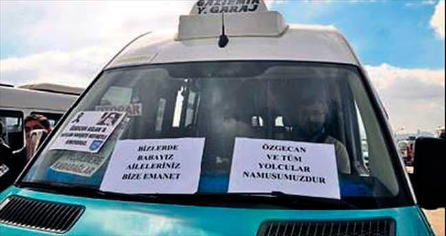 Minibüs şoförlerinden 'Özgecan' tepkisi