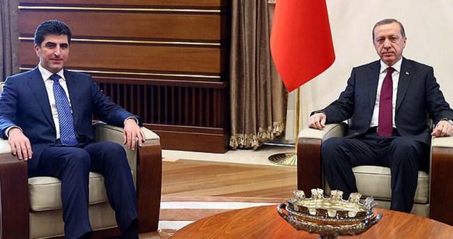 Cumhurbaşkanı Erdoğan Barzani ile görüştü