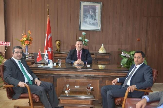 Mersin AK Parti Yönetiminden Yeni Müdür Koca'ya Ziyaret