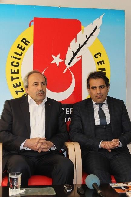 Aydın Kalkan'dan Gazeteciler Cemiyeti'ne Ziyaret