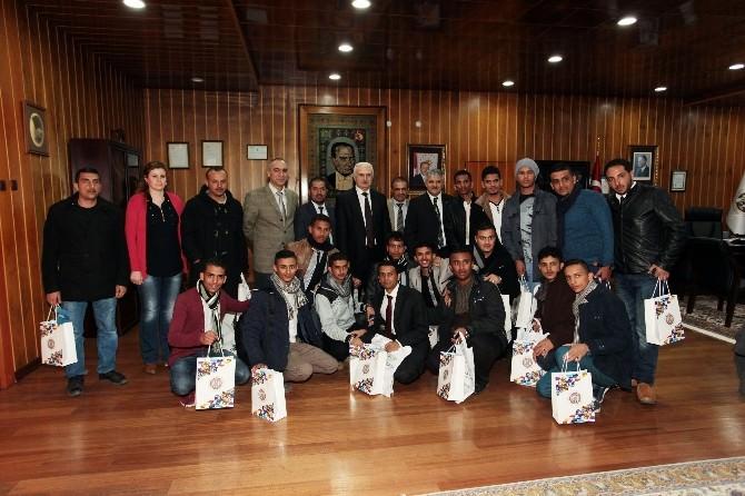 Yemen Bilim Ve Teknoloji Üniversitesi Öğrencileri Atatürk Üniversite'sinde...