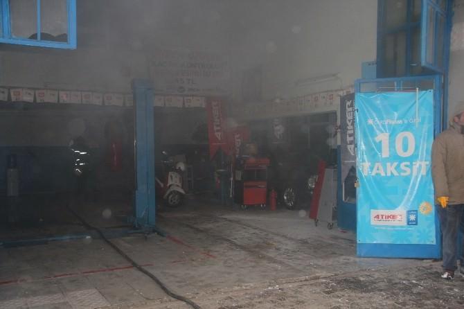 Bilecik'te Otogaz Dükkanında Çıkan Yangın Paniğe Neden Oldu