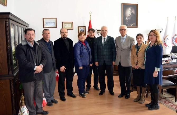 Gazetecilerden Cumhuriyet Başsavcısı Alim Taş'a Ziyaret