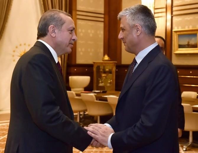 Erdoğan, Kosova Başkan Yardımcısı Ve Dışişleri Bakanı Taçi'yi Kabul Etti