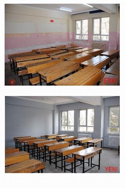 Jandarma Öğrencilerin Okulunu Boyadı