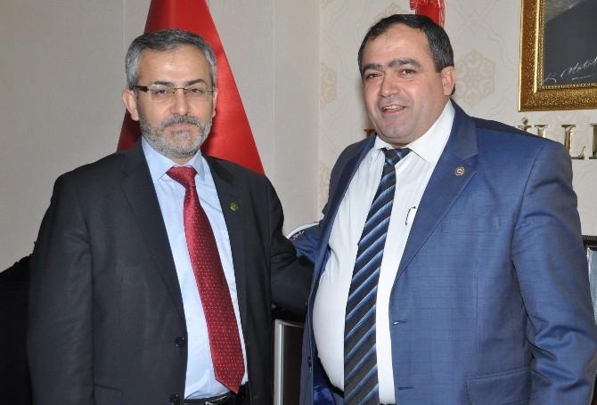Prof. Dr. Ayhan'dan Başkan Koçak'a Hayırlı Olsun Ziyareti