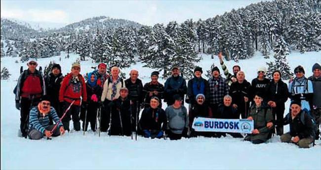 Doğaseverler Salda Kayak Merkezi'ni gezdi