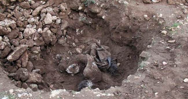 Şanlıurfa'da çobanlar toprağa gömülü 2 ceset buldu