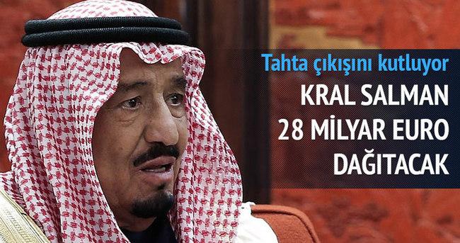 Suudi kralı halkına 28 milyar euro dağıtıyor