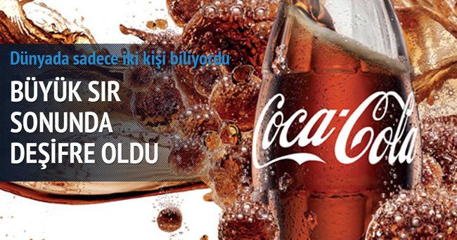 Coca Cola'nın büyük sırrı deşifre oldu!