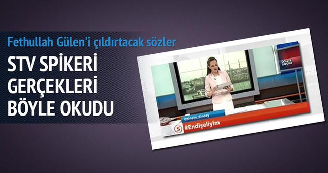 STV spikerinden Gülen'i çıldırtacak sözler!