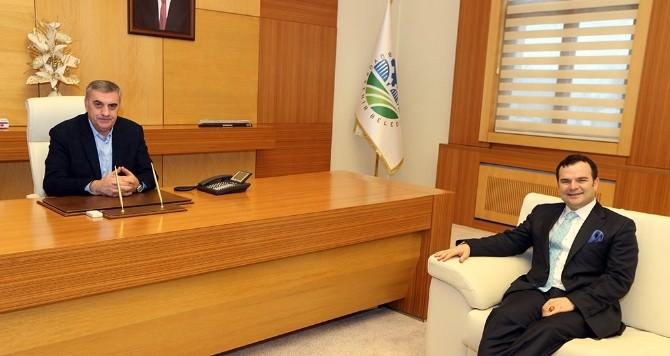 Başkan Toçoğlu, Kemal Öztürk'ü Makamında Misafir Etti