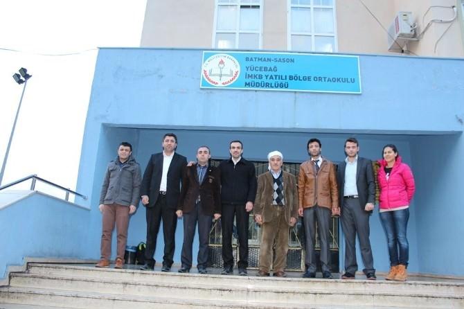 Sason'da Kanaat Önderleri Okulları Ziyaret Etti