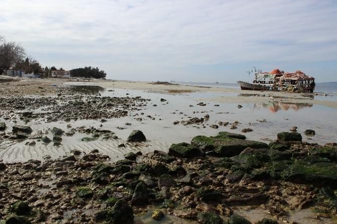 Çanakkale'de Deniz Çekildi