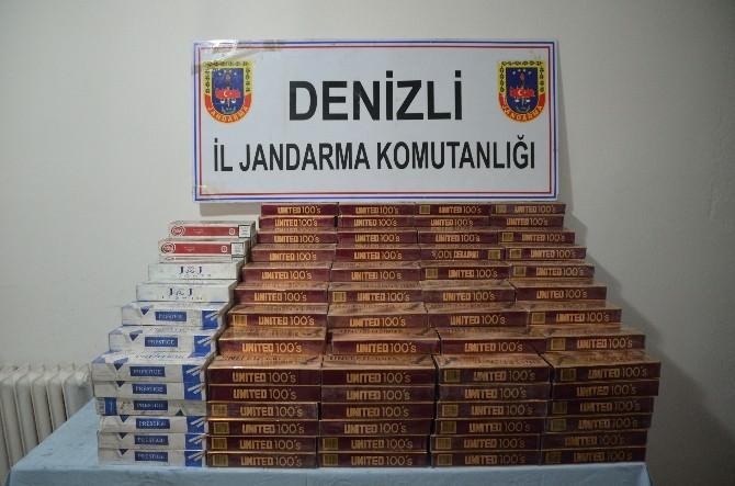 Denizli'de 4 Bin Paket Kaçak Sigara Ele Geçirildi