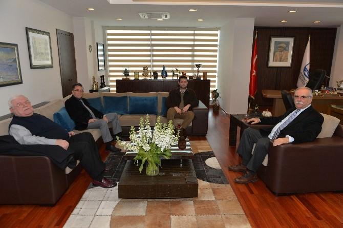 Edremit Belediye Başkanı Kamil Saka, Çanakkale Belediye Başkanı Ülgür Gökhan'ı Ziyaret Etti