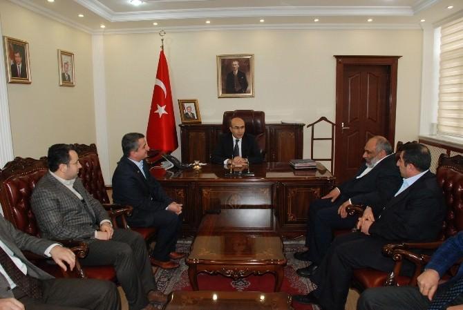 İHH Genel Başkanı Bülent Yıldırım'dan Vali Mahmut Demirtaş'a Ziyaret