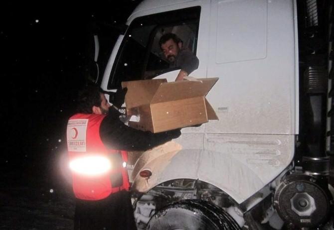 Kütahya AFAD'tan Mahsur Kalan Yolculara Kumanya