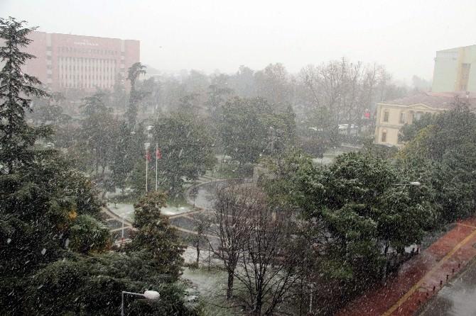 Samsun'da Kar Yağışı Yeniden Başladı