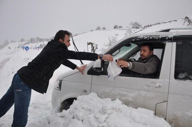 Belediye Yolda Kalan Vatandaşları Otellere Taşıdı