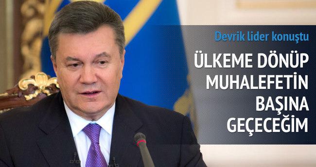 Yanukoviç Ukrayna'ya dönmek istiyor