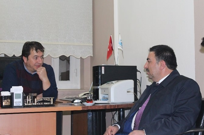 AK Parti Erzurum Milletvekili Aday Adayı Vesim Yılmaz'dan İHA'ya Ziyaret